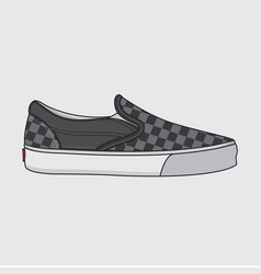shoes sneakers simple design vector image