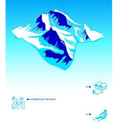 Skiing resort booklet vector image