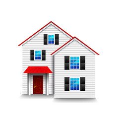 small three-storey house isolated on white vector image