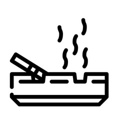 Smoking smell line icon line vector