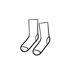 socks hand drawn sketch icon vector image