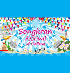 Songkran festival of thailand sign symbol vector