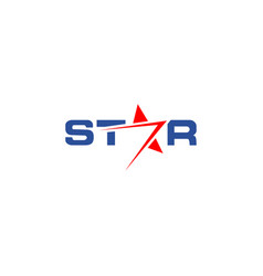 star wordmark logo design template vector image