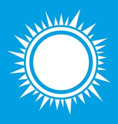 Sun icon white vector