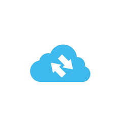 Synchronization cloud icon design template vector