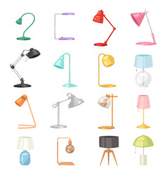table lamp desklamp and reading-lamp for vector image