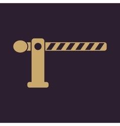 The barrier icon Roadblock and borderline stop vector