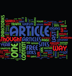 The power of articles text background word cloud vector