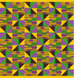 Tribal seamless pattern geometric african style vector