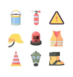 Work protection tools set industrial safety items vector