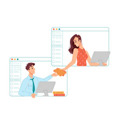 working from home online work business management vector image