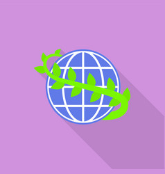 world plant day icon flat style vector image