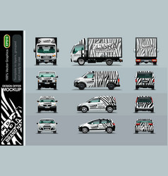 Zebra pattern layout offers for your business vector