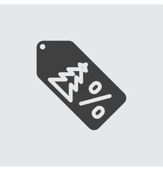 Christmas sale icon vector image