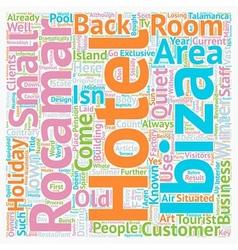 Hotel Rocamar Ibiza Reviewed text background vector image vector image