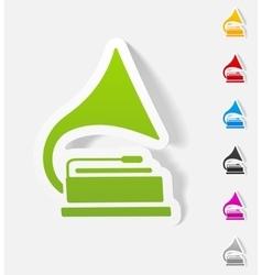 realistic design element gramophone vector image vector image