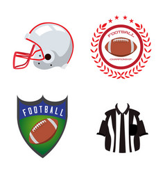 set of football related objects vector image