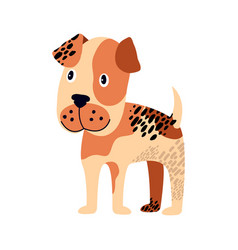 spotted dog of brown color on vector image vector image