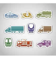 flat retro color stickers - set two vector image vector image