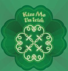 kiss me Im Irish vector image vector image