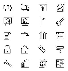 Real Estate Line Icons 3 vector image vector image