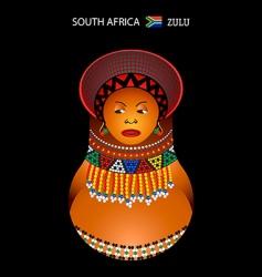 Zulu girl vector image vector image