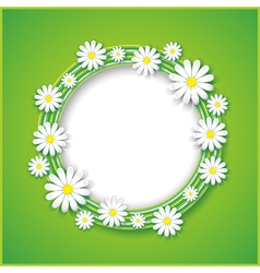 Abstract spring or summer background with flower vector image