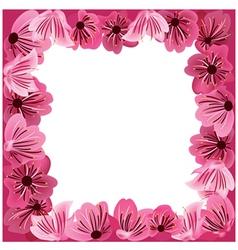 flowers frame floral background vector image vector image