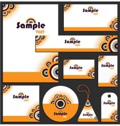 letterhead template design vector image vector image