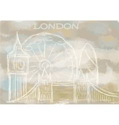 london abstract cityscape vector image vector image