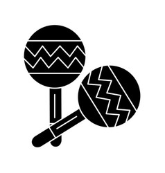 maracas icon black sign on vector image vector image