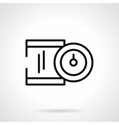 Precision device black line icon vector image vector image