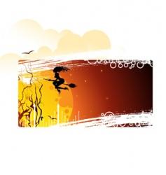 banner Halloween vector image vector image