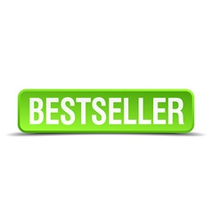 bestseller green 3d realistic square isolated vector image vector image