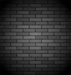 Black brick wall vector