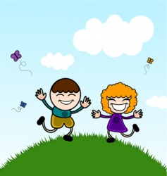 cute kids vector image vector image