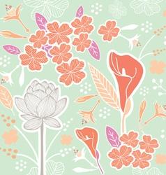 flower pattern set 1B vector image