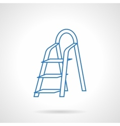 Ladder flat blue line icon vector image vector image