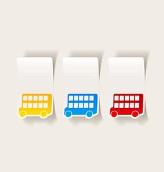 Realistic design element bus double decker vector