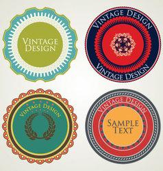 Vintage stickers vector image vector image