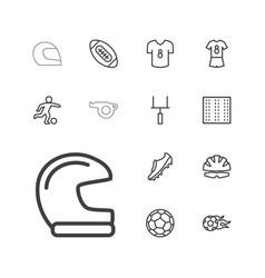 13 football icons vector