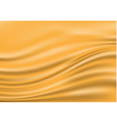 Abstract gold fabric satin wave blank space luxury vector