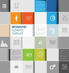 abstract squares background infographic te vector image