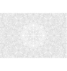 Art for adult coloring book with detailed pattern vector