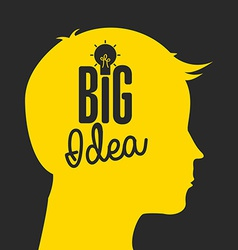 big idea vector image
