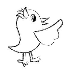 bird cute cartoon vector image
