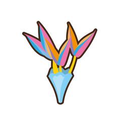 Bouquet paradise flowe vector