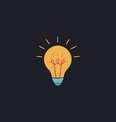 Bulb computer symbol vector image