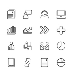 Business line Icons set vector