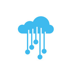 cloud electronic circuit icon deisgn template vector image